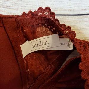 Auden Intimates & Sleepwear - Auden Front Clasp Burgandy Bra Lace Razorback
